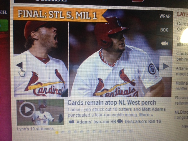 """St. Louis Cardinals """"Gateway to the West."""""""